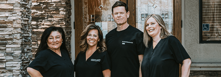 Chiropractor Rocklin CA Scott Beavers with Team